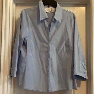 Woman's Worthington Blue Stretch Blouse, Size 18